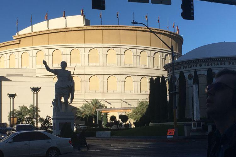 Hotel Caesars Pallace di Las Vegas, Nevada, Amerika Serikat, lengkap dengan patung Julius Caesar. Gambar diambil pada Selasa (28/11/2017) waktu setmpat atau Rabu (29/11/2017) WIB