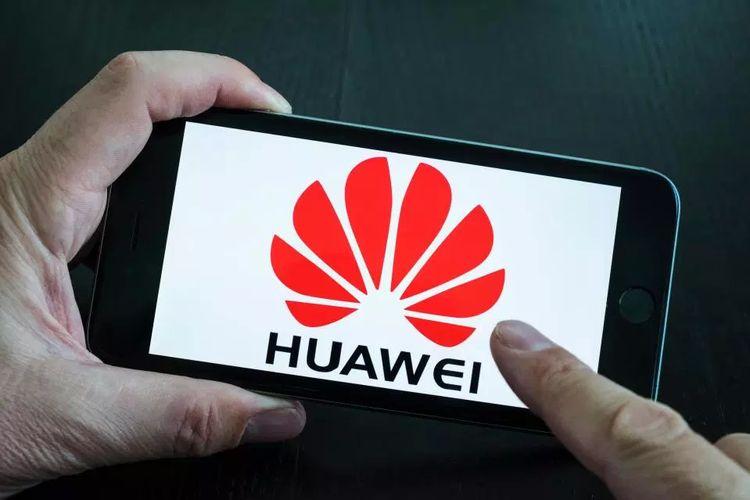 Ilustrasi ponsel Huawei.