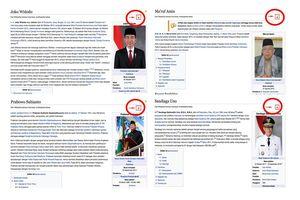Jelang Pilpres 2019, Wikipedia Mengunci Artikel Profil Capres-Cawapres
