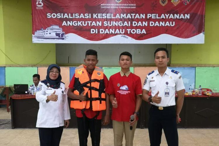 Kemenhub Sosialisasikan Keselamatan dan Keamanan Angkutan di Danau Toba