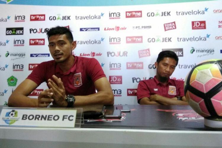 Pemain Pusamania Borneo FC Firdaus Ramadhan yakin timnya bisa dapat poin di Madura sebagai motivasi kepada pelatih Iwan Setiawan yang sedang sakit.