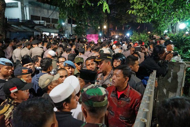Kapolres Jakarta Pusat Suyudi menegaskan bahwa tidak ada kegiatan menyangkut Partai Komunis Indonesia (PKI) di kantor Yayasan Lembaga Bantuan Hukum Indonesia (YLBHI) sejak sore hingga malam, pada Minggu (17/9/2017).