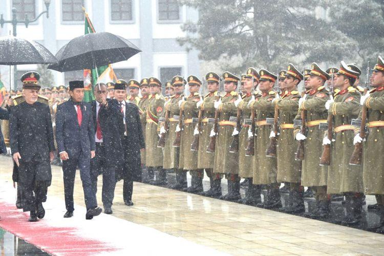 Presiden Joko Widodo saat berkunjung ke Afghanistan, Senin (29/1/2018).