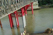 Jembatan Sementara Cipatujah Diresmikan