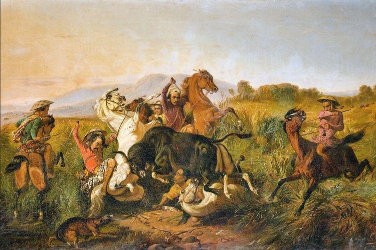 Lukisan karya Raden Saleh, Perburuan Banteng