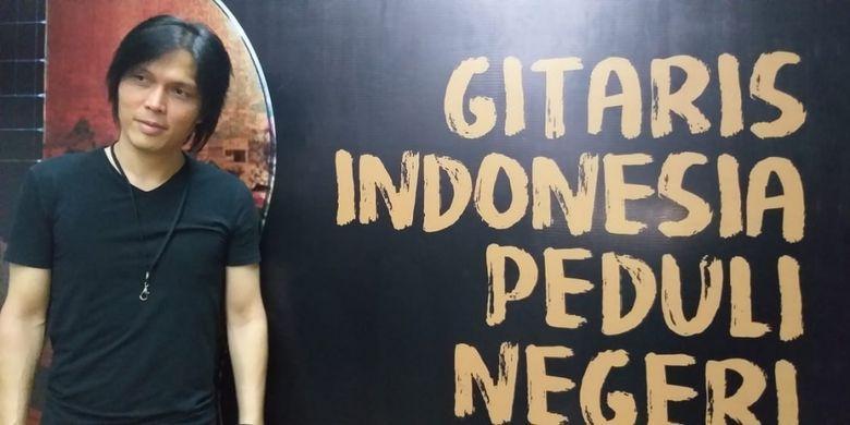Once Mekel dalam wawancara di acara Gitaris Indonesia Peduli Negeri di Bentara Budaya Jakarta (BBJ), Palmerah, Jakarta Pusat, Kamis (11/10/2018) malam.