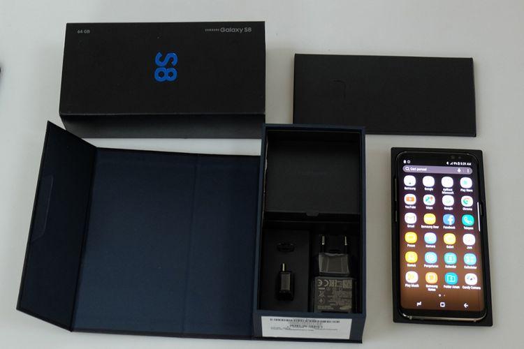 Paket kotak pembelian Galaxy S8