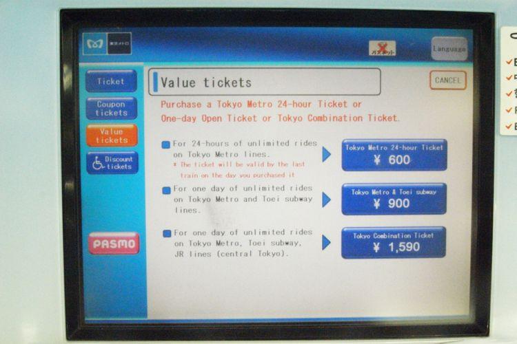 Pilih tipe tiket one-day pass yang Anda inginkan dan bayar