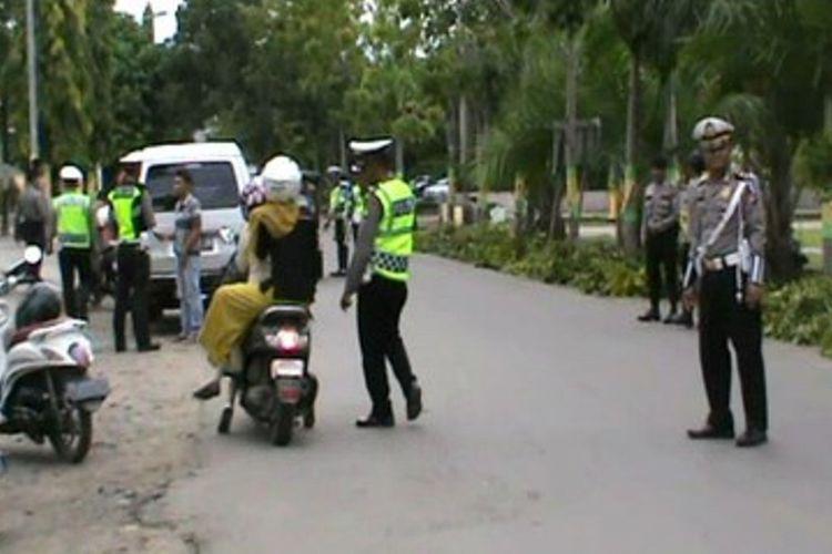 Puluhan Pengendara Terjaring Operasi Siamasaei Bingung Cari Angkutan Umum