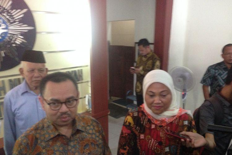 Paslon Sudirman Said dan Ida Fauziyah menyambangi kantor PW Muhammadiyah Jateng, Senin (15/1/2018).