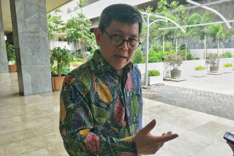 Anggota Komisi III dari Fraksi Partai Nasdem, Taufiqulhadi, saat ditemui di gedung Nusantara II, Kompleks Parlemen, Senayan, Jakarta, Senin (29/1/2018).