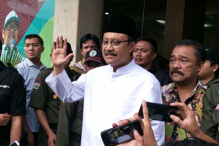 Bakal calon Gubernur Jawa Timur Syaifullah Yusuf (Gus Ipul) di Kantor DPP PKB, Jakarta, Jumat (5/1/2018)