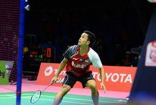 Hasil Piala Thomas, Anthony Ginting Kalah, Indonesia Tertinggal 0-1
