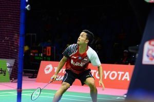 Hasil Piala Thomas, Anthony Ginting Kalah dari Chong Wei