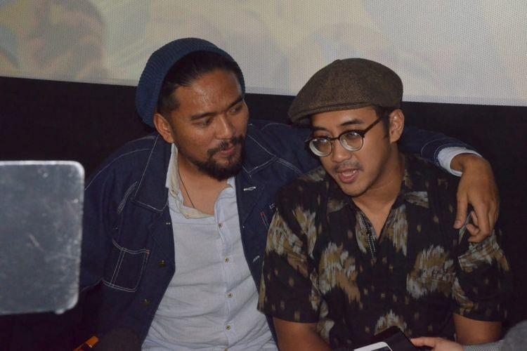 Dimas Danang dan Imam Darto saat diwawancarai usai Gala Premier film PSP: Gaya Mahasiswa di Lotte Shopping Avenue, Kuningan, Jakarta Selatan, Sabtu (26/1/2019).