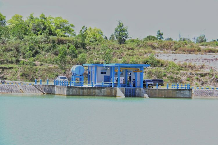 Proyek embung di Kota Tarakan, Kalimantan Utara.