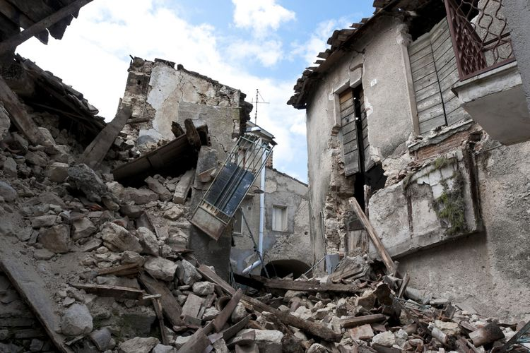 Gempa yang meluluhlantakkan LAquilla, Italia pada 2006