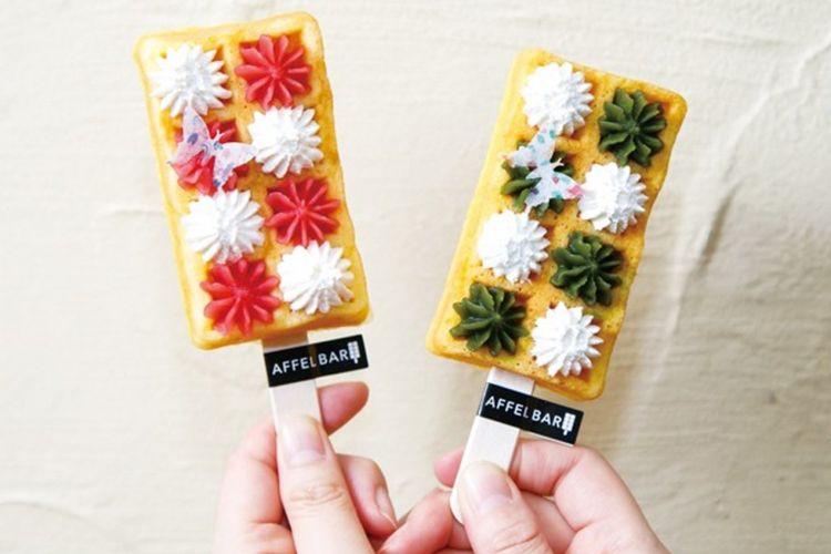 Dekorasi berbentuk kupu-kupu terbuat dari tepung kanji sehingga bisa dimakan