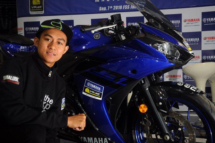Pebalap muda binaan Yamaha Racing Indonesia, Faerozi Thoreqotullah (15) yang terpilih untuk mengikuti program pelatihan Yamaha VR46 Master Camp batch ke-6 yang dijadwalkan berlangsung di Motor Ranch VR46 Tavullia, Italia pada 11-16 September 2018.