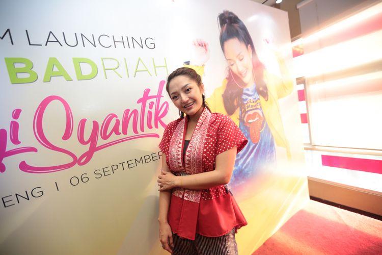 Penyanyi dangdut Siti Badriah meluncurkan album Lagi Syantik di Jakarta, Kamis (6/9/2018).