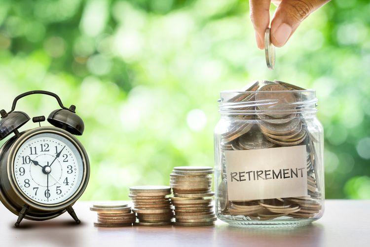 Ilustrasi menabung dana pensiun.