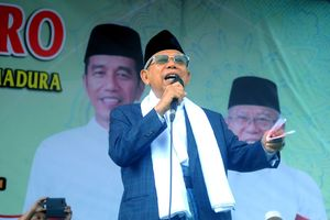 Ma'ruf Amin: Kalau Enggak Mau Pilih Jokowi, Pilih Saja Saya