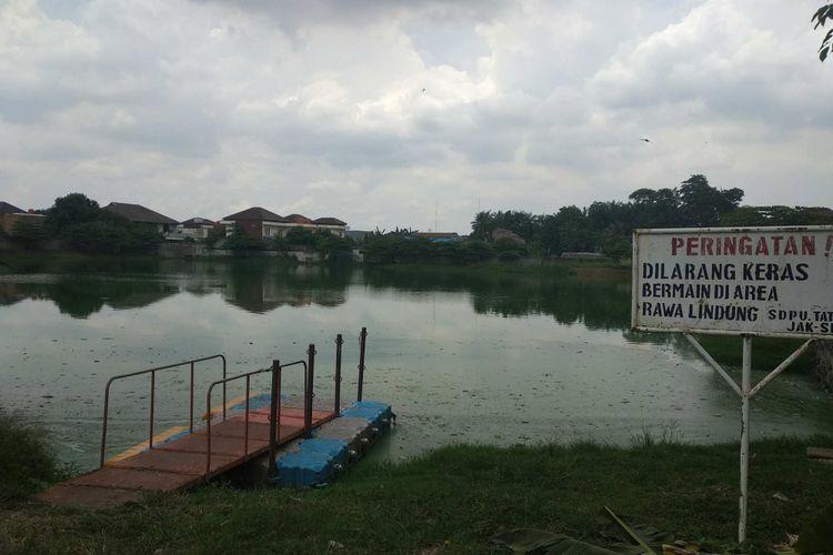 Waduk Rawa Lindung di Petukangan Selatan, Pesanggrahan, Kamis (9/11/2017).