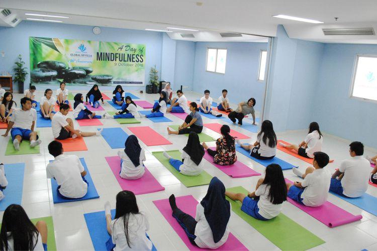 Peringatan ulang tahun ke-16 Global Sevilla School mengangkat tema A Day of Mindfullness (9/10/2018).