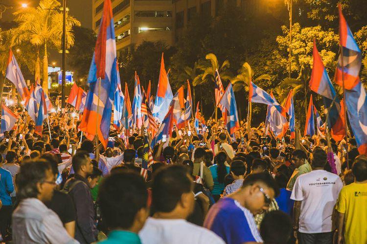 Pengerahan kampanye Pakatan Harapan menarik ribuan pendukung dari berbagai wilayah di Malaysia