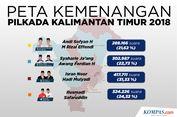 INFOGRAFIK: Peta Kemenangan Pilkada Kalimantan Timur 2018
