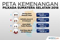 INFOGRAFIK: Peta Kemenangan Pilkada Sumatera Selatan 2018