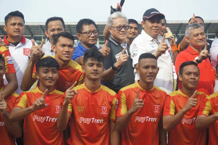 Skuad Persika Karawang siap melaju di Liga 2 Indonesia 2018.