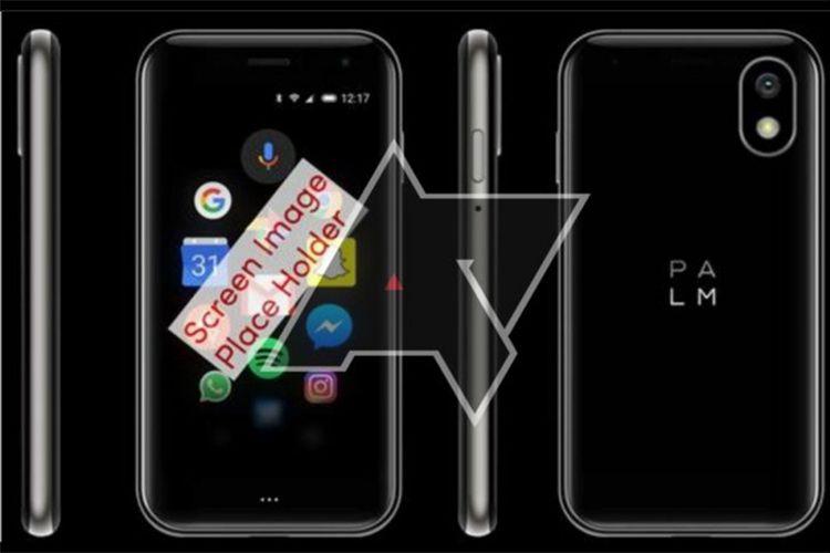 Penampakan ponsel Android Palm Pepito dengan ukuran mungil.