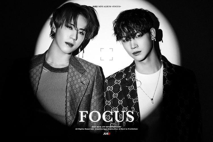 JB dan Yugyeom, dua member yang tergabung dalam subunit GOT7 yang baru.