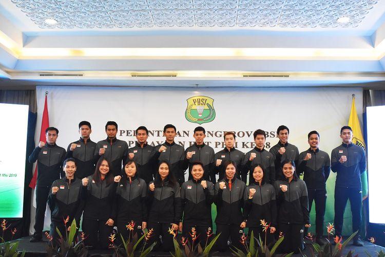 Skuat Indonesia pada kejuaraan Piala Sudirman 2019 yang akan digelar di Nanning, China, 19-26 Mei mendatang.
