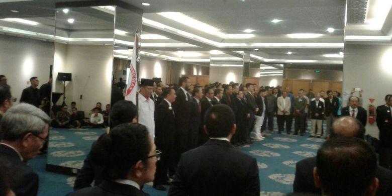 Suasana pelantikan pengurus baru PB PRUI di Hotel Atlet Century, Jakarta, Selasa (8/8/2017).