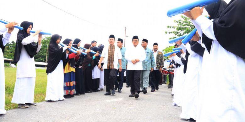 Ketua Umum DPP Partai Kebangkitan Bangsa (PKB) Muhaimin Iskandar menjadi pembicara dalam kuliah umum di Universitas Islam Negeri (UIN) Sultan Syarif Kasim, Riau, Selasa (14/11/2017).
