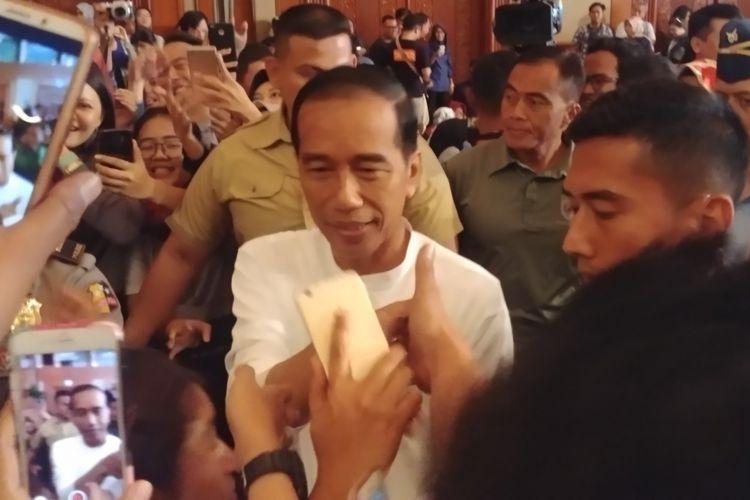 Presiden Jokowi saat membuka Green Fest Tahun 2019 di Jakarta Convention Center, Senayan, Jakarta, Kamis (31/1/2019).