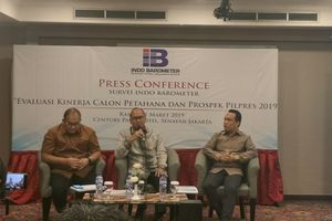 Survei Indo Barometer: Elektabilitas Jokowi-Ma'ruf 50,2 Persen, Prabowo-Sandiaga 28,9 Persen