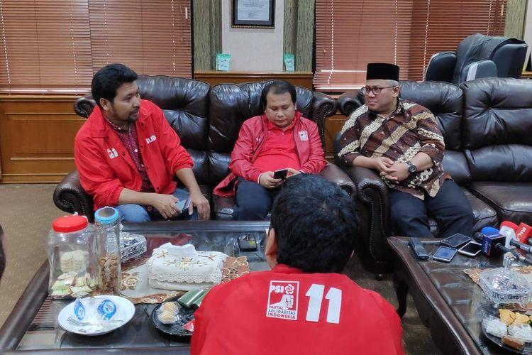 Audiensi PSI ke Ketua KPU terkait usulan debat antar partai politik di kantor KPU, Menteng, Jakarta Pusat, Jumat (15/3/2019).