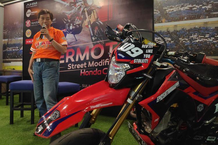 Honda CRF150L Dimodifikasi Bergaya Supermoto