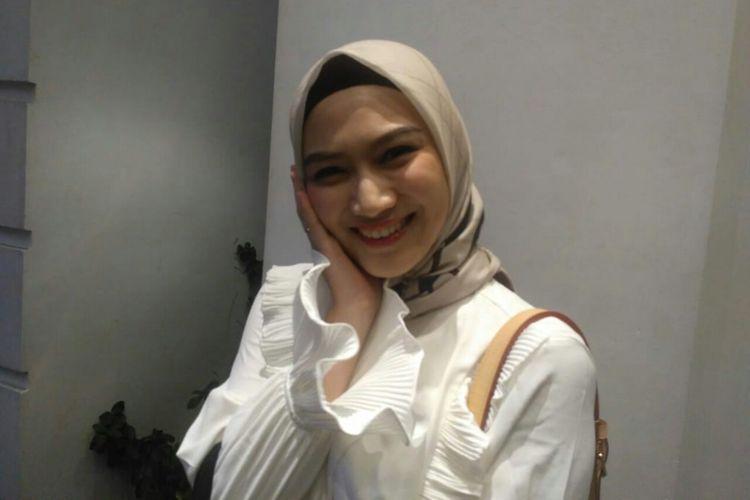 Melody Eks JKT48 saat ditemui dalam sebuah acara di kawasan Petogogan, Kebayoran Baru, Jakarta Selatan, Senin (29/4/2019).