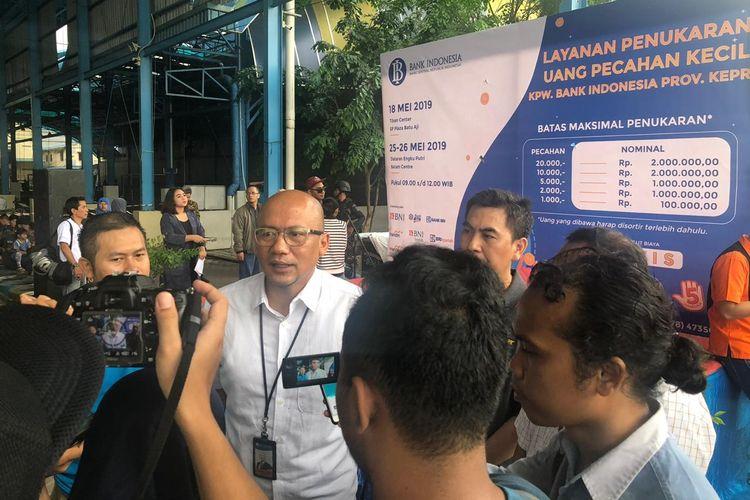 Bank Indonesia (BI) kantor perwakilan Kepri menyiapkan uang tunai senilai Rp 4,5 triliun untuk masyarakat yang ingin menukarkan uang lama ke uang baru pecahan kecil saat Idul Fitri.