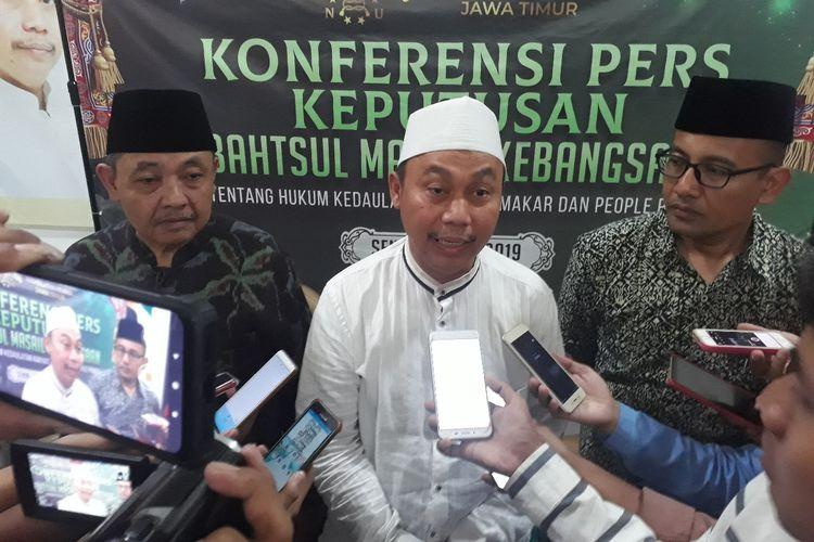 Sekretaris Dewan Syuro PWNU Jatim, KH Syafrud