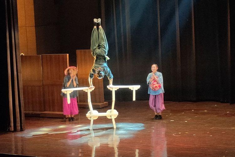 Formosa Circus Art menampilkan The Heart of Asia di Nusa Indah Theater, Balai Kartini, Jakarta, Kamis (27/6/2019)
