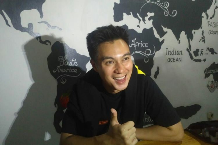 Artis peran Baim Wong saat ditemui di kawasan Utan Kayu, Rawamangun, Jakarta Timur, Minggu (14/7/2019).