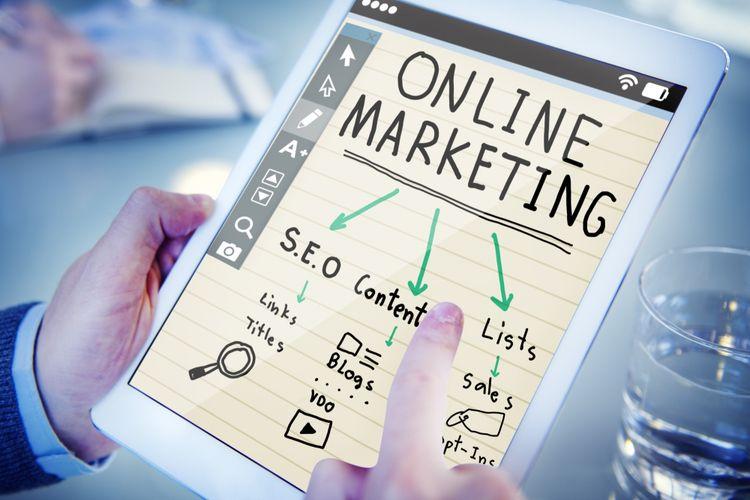 Ilustrasi online marketing