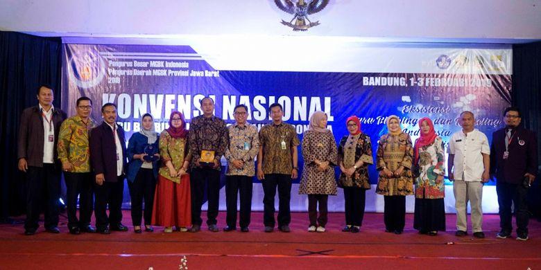Konvensi Nasional Guru Bimbingan dan Konseling Indonesia, bertempat di Graha Pos Indonesia Bandung, Jumat (1/2/2019).
