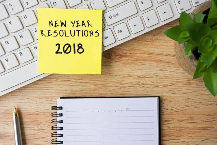 Ilustrasi resolusi tahun baru