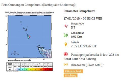 Gempa Hari Ini: M 5,7 Guncang Aceh, BMKG Tegaskan Tak Berpotensi Tsunami
